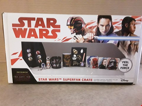Lot 185 BRAND NEW BOXED STAR WARS SUPERFAN CRATE