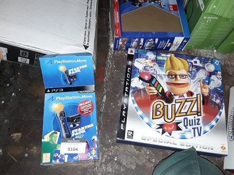 Lot 9104 A LOT OF 4 PS3 GAMING ACCESSORIES TO INCLUDE,  PLAYSTATION MOVE STARTER PACK AND THE EYE OF JUDGEMENT ETC