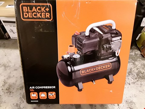 Lot 339 BLACK + DECKER AIR COMPRESSOR 12L