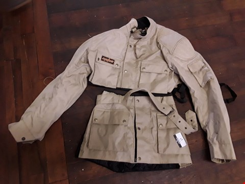 Lot 17 MOLUS KHAKI CANVAS SHORT JACKET SIZE LARGE & TOOL BELT