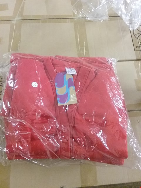 Lot 1352 BOX OF APPROXIMATELY 50 GIRLS CARDIGAN - RED, SIZE - 24, 26, 28, 30, 32