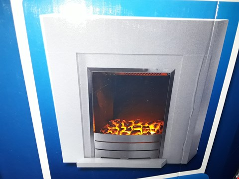 Lot 3061 BOXED BLYSS BECCLES ELECTRIC FIREPLACE SUITE WHITE  RRP £98