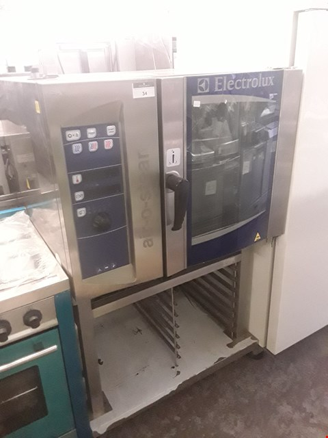 Lot 34 ELECTROLUX AO5061EBK1 AIR-O-STEAM OVEN ON STAND