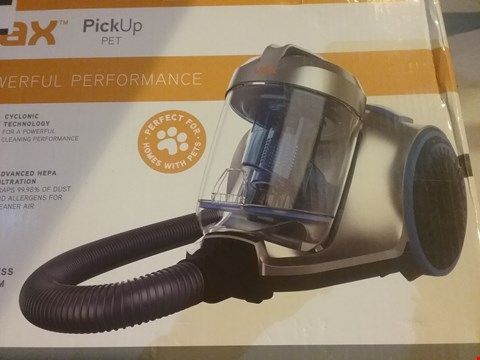 Lot 2767 VAX PICK UP PET CYLINDER VACUUM CLEANER