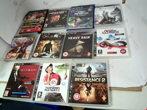 Lot 3069 LOT OF 11 PS2 & PS3 GAMES TO INCLUDE: HITMAN ABSOLUTION TAILORED EDITION, TIGER WOODS PGA TOUR 10, ASSASSIN'S CREED III