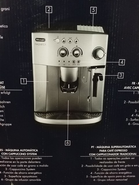 Lot 294 DELONGHI MAGNIFICA BEAN TO CUP COFFEE MACHINE