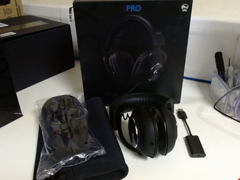 Lot 15240 LOGITECH G PRO X GAMING HEADSET (2ND GENERATION) WITH BLUE VO!CE, DTS HEADPHONE:X 7.1 AND 50 MM PRO-G DRIVERS (FOR PC, PS4, SWITCH, XBOX ONE, VR) - BLACK