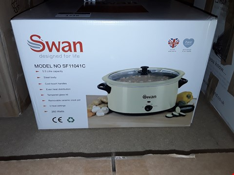 Lot 1726 GRADE 1 SWAN 5.5L SLOW COOKER - CREAM RRP £40