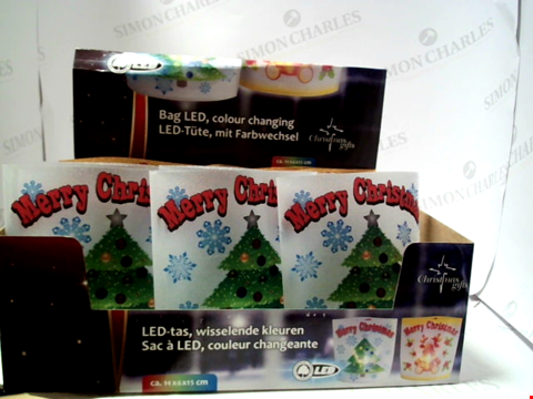 Lot 5043 LOT OF 4x12 LED MERRY CHRISTMAS BAGS