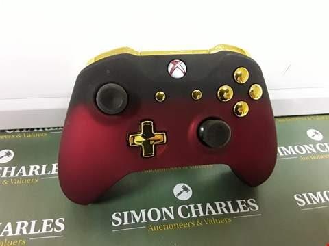 Lot 6151 XBOX ONE CONTROLLER - RED SHADOW AND GOLD EDITION