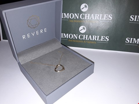 Lot 6 BOXED REVERE STYLE HEART SHAPED GOLD LOOK NECKLACE