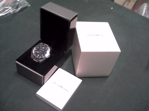Lot 1543 BOXED EMPORIO ARMANI STAINLESS STEEL BRACELET WATCH RRP £289