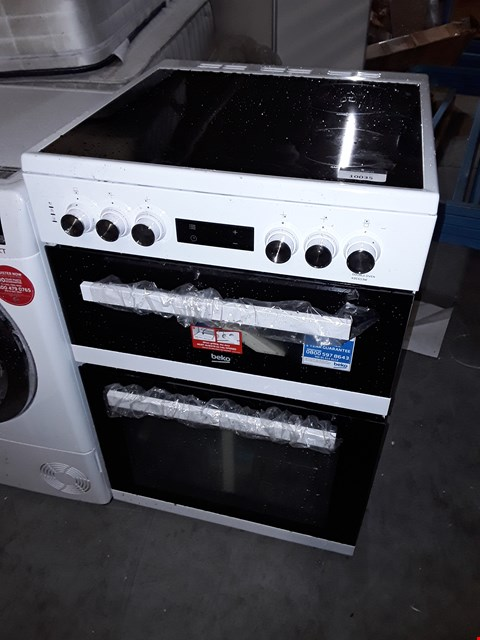 Lot 10035 BEKO KDC653W 60CM ELECTRIC COOKER WITH CERAMIC HOB AND CONNECTION - WHITE