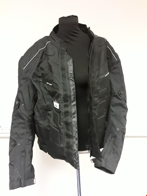 Lot 4085 PRO FIRST AIR VENT ARMOURED BLACK MOTOR CYCLE JACKET (With labels) SIZE L