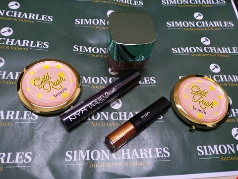 Lot 84 5 ASSORTED BRAND NEW COSMETICS PRODUCTS TO INCLUDE; BENEFIT GOLD RUSH MIRRORS, L'OREAL EYE PAINT, NYX LIQUID SUEDE CREAM LIPSTICK AND L'OREAL TRUE MATCH MINERALS