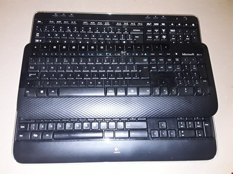 Lot 9311 LOT OF 6 UNBOXED LOGITECH K330 KEYBOARDS