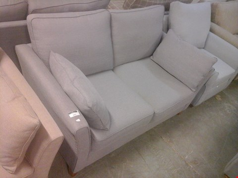 Lot 46 QUALITY DESIGNER GREY FABRIC TWO SEATER SOFA