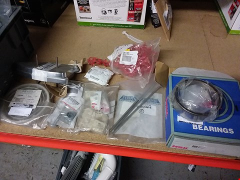 Lot 750 LOT OF APPROXIMATELY 45 ASSORTED CATERING ITEMS TO INCLUDE NSK BEARINGS,  RED INS CRIMP TAB TERMINAL AND DOOR HINDGE RODS