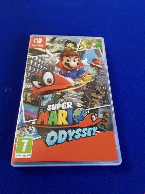 Lot 7607 SUPER MARIO ODYSSEY NINTENDO SWITCH GAME