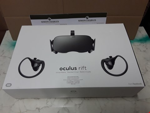 Lot 1 BOXED OCULUS RIFT VIRTUAL REALITY GAMING SET