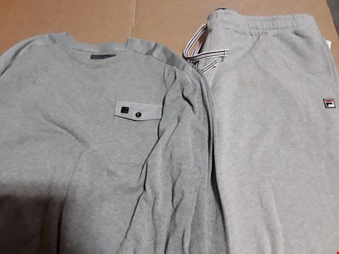 Lot 9363 4 BOXES OF APPROXIMATELY 70 ASSORTED CLOTHING ITEMS TO INCLUDE FINLAY GREY KNIT, COLD SHOULDER TUNIC, CUFFED JOGGERS
