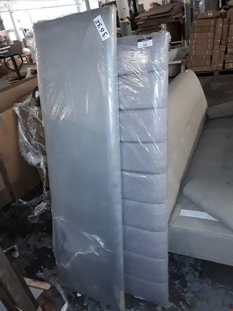 Lot 502 LOT OF 2 ASSORTED GREY FABRIC HEADBOARDS