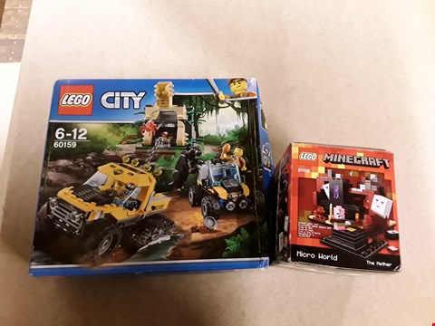 Lot 6149 LOT OF 2 ASSORTED LEGO ITEMS TO INCLUDE LEGO CITY JUNGLE PACK AND LEGO MINECRAFT MICRO WORLD PACK