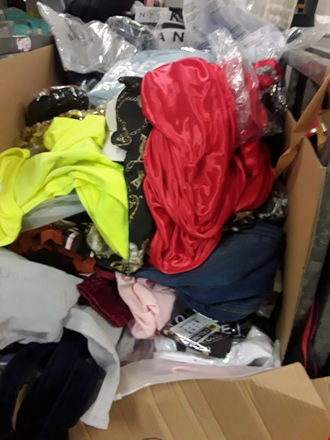 Lot 210B CAGE OF ASSORTED UNPROCESSED ADULT CLOTHING