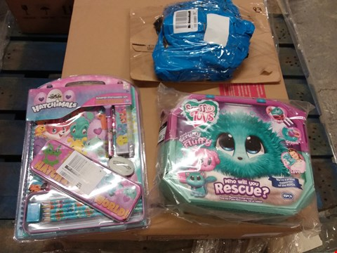 Lot 183 LOT OF 3 GRADE 1 ITEMS TO INCLUDE HATCHIMALS STATIONERY SET, SCRUFF A LUVS TOY ETC RRP £45