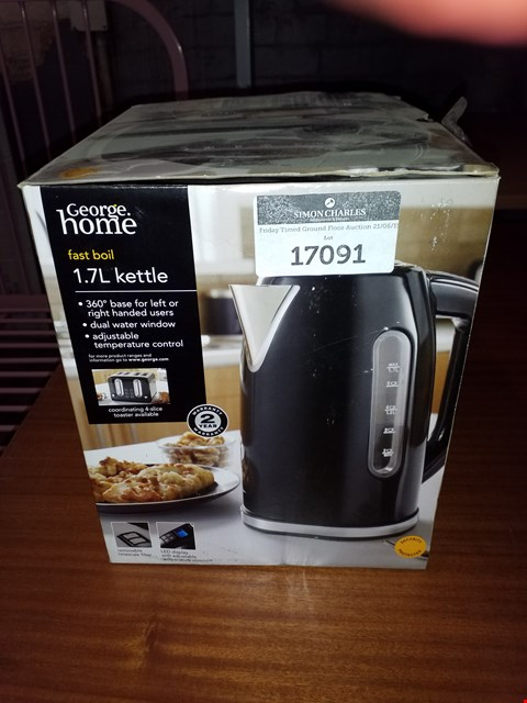 Lot 17091 BOXED GEORGE HOME 1.7L KETTLE
