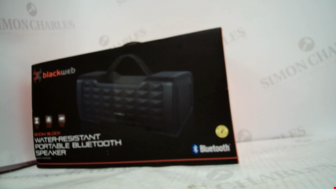 Lot 1775 BLACKWEB WATER-RESTISTANT PORTABLE BLUETOOTH