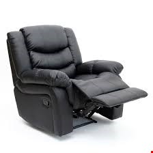 Lot 105 BOXED DESIGNER SEATTLE BLACK LEATHER MANUAL RECLINING EASY CHAIR  RRP £349.99