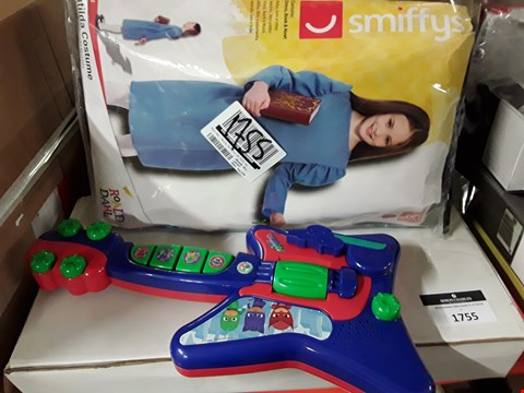 Lot 1755 TWO GRADE 1 ITEMS, MATILDA CHILDS COSTUME & PJ MASK GUITAR RRP £54.99