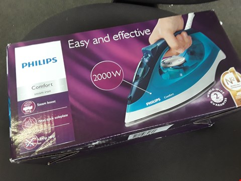 Lot 10 BOXED PHILIPS COMFORT STEAM IRON