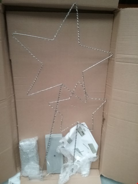 Lot 1561 BOXED WIRE LED 5 POINT STAR WITH RESIN STAND RRP £35.00