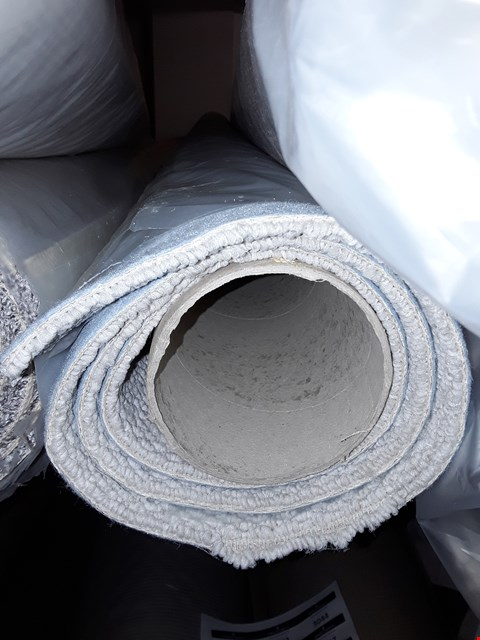 Lot 3027 ROLL OF GREY CARPET WITH BLUE UNDERSIDE, SIZE UNSPECIFIED