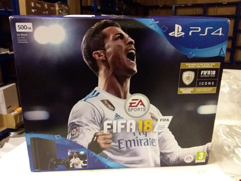 Lot 10559 BRAND NEW SONY PS4 CUH-2116A 500GB IN JET BLACK RRP £299.99