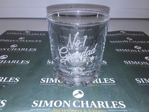 Lot 9104 PERSONALISED WHISKY GLASS RRP £16.00