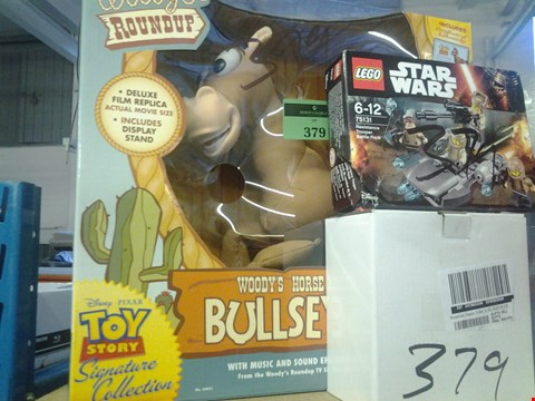 Lot 379 3 ITEMS INC LEGO STAR WARS, DIAMANTE TRINKET BOX, TOY STORY BULLSEYE TOY RRP £90.00