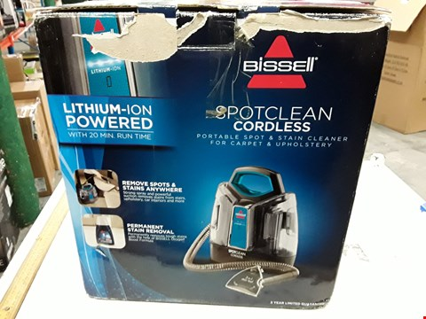 Lot 3006 BISSELL SPOT CLEAN CORDLESS STEAM CLEANER