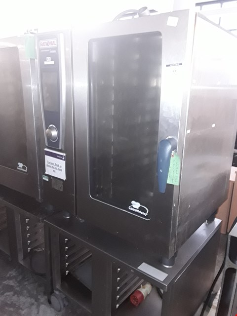 Lot 82 COMMERCIAL STAINLESS STEEL RATIONAL 10 GRID OVEN WITH STAND
