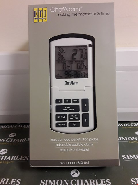 Lot 1539 ETI CHEF ALARM COOKING THERMOMETER & TIMER