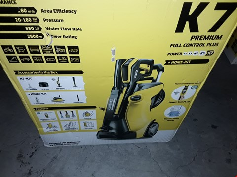 Lot 12574 KARCHER K7 PREMIUM FULL CONTROL PLUS PRESSURE WASHER