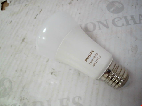 Lot 11096 PHILIPS HUE WHITE & COLOUR AMBIANCE SMART BULB