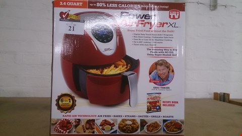 Lot 21 BOXED FUSION POWER AIR FRYER XL 6 IN 1 COOKER