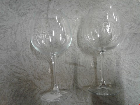 Lot 1638 LOT OF 2 GRADE1 PERSONALISED LARGE GIN GLASSES RRP £46