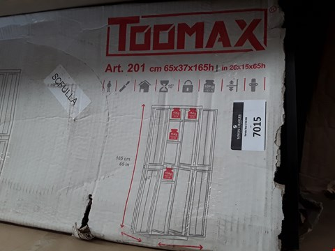 Lot 7015 BOXED TOOMAX MIDI TTEND PLASTIC STORAGE CUPBOARD
