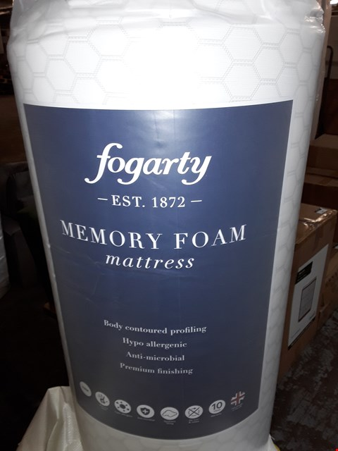 Lot 1143 DESIGNER QUALITY BAGGED DOUBLE ROLL UP FOGARTY MEMORY FOAM MATRESS