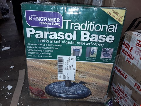 Lot 7049 BOXED KINGFISHER TRADITIONAL PARASOL BASE