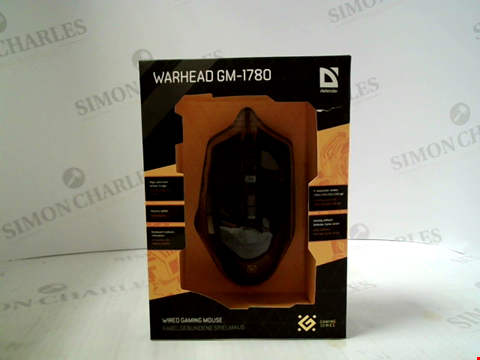 Lot 397 BRAND NEW DEFENDER WARHEAD GM-1780 WIRED GAMING MOUSE